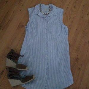 A new day blue pinstriped dress